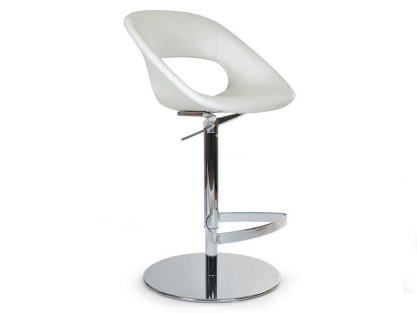 Swivel chair with footrest AREA VIP STOOL by Riccardo Rivoli