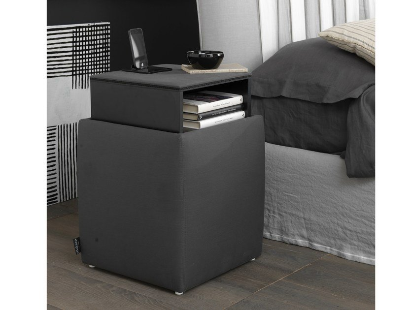 Storage fabric pouf ARES DOCKING STATION - Bolzan Letti