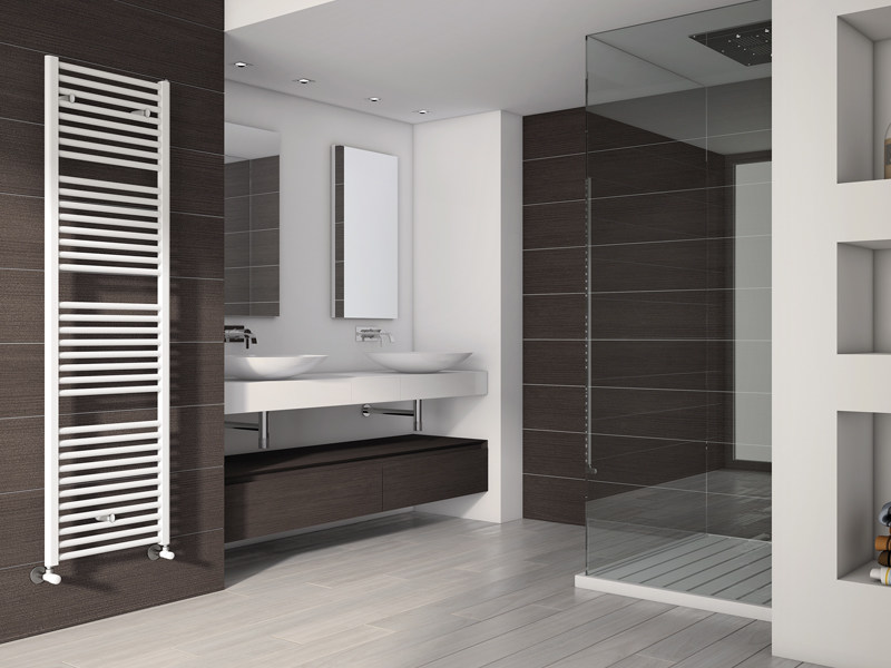 Vertical wall-mounted steel towel warmer ARES | Towel warmer - IRSAP