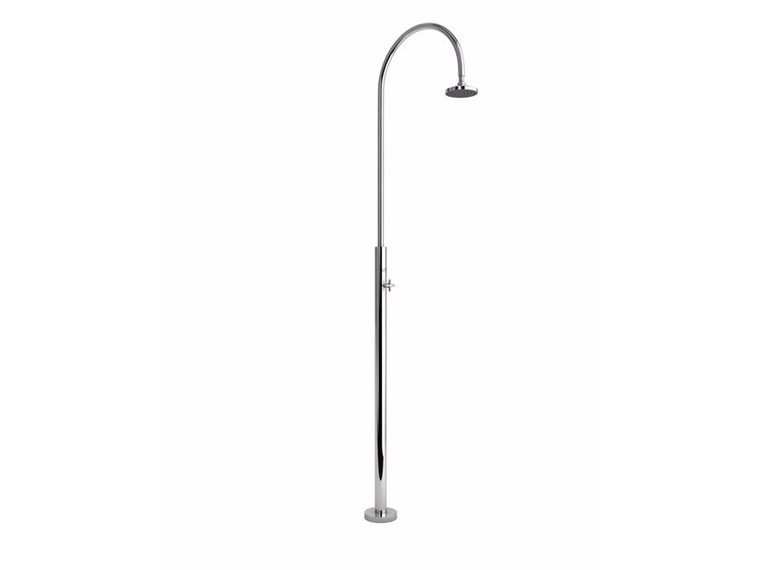 Stainless steel outdoor shower ARIA CYLINDER by Inoxstyle