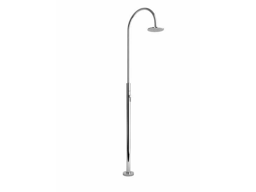 Stainless steel outdoor shower ARIA CYLINDER M BEAUTY - Inoxstyle