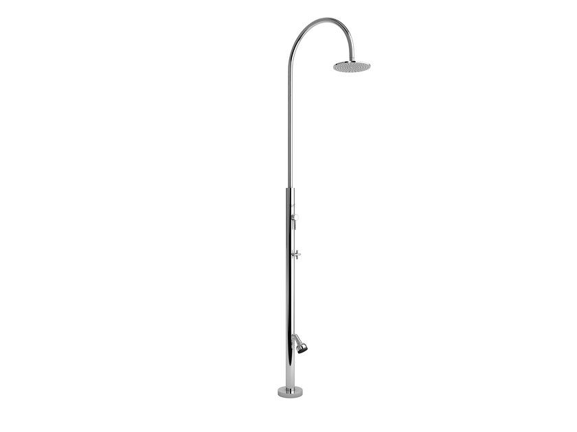 Stainless steel outdoor shower ARIA CYLINDER ML BEAUTY - Inoxstyle