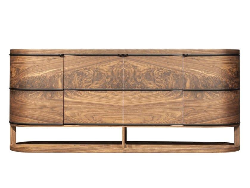 Wood veneer sideboard with doors ARIA | Sideboard by Mobi