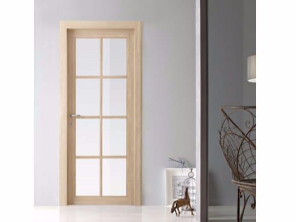 Hinged wood and glass door ARIZONA by Door 2000