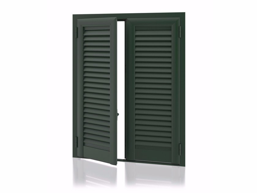Aluminium shutter with fixed louvers ARKUS Fixed Slats - Kikau