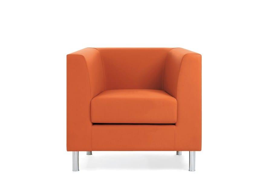Armchair with armrests DOMINO | Armchair - Emmegi