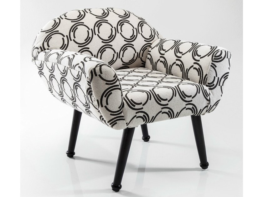 Fabric armchair with armrests FJORD COUNTY | Armchair by KARE-DESIGN