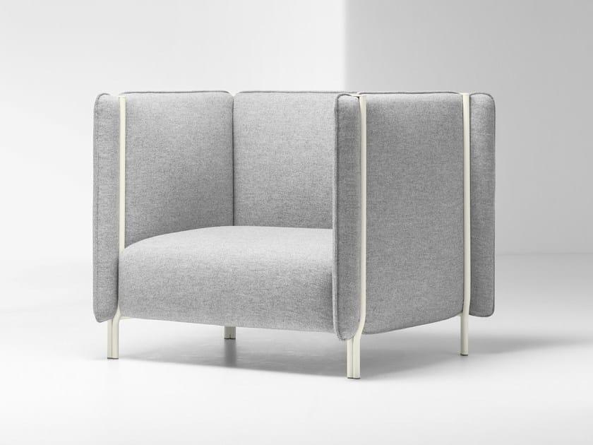 High-back armchair PINCH | Armchair - La Cividina