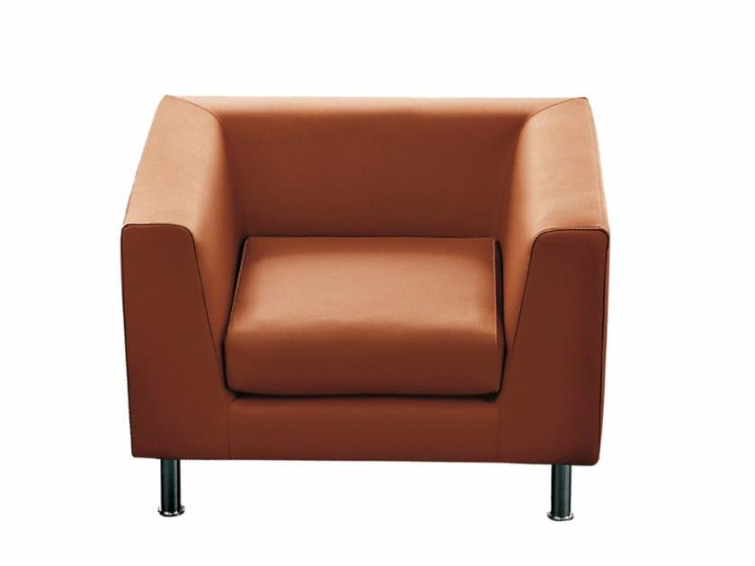 Armchair with armrests CUBE | Armchair - Luxy