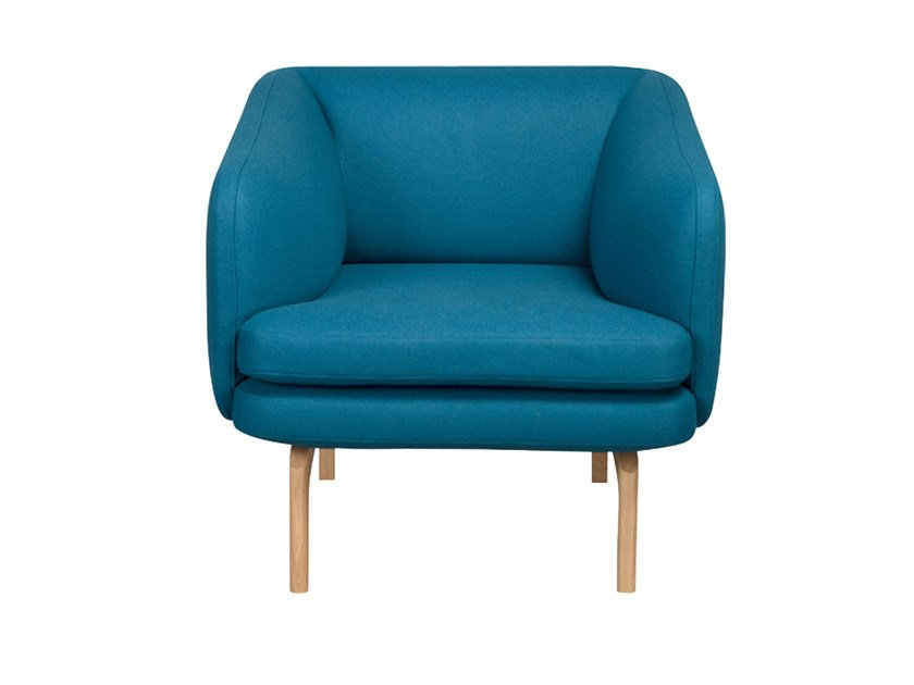 Fabric armchair with armrests GABO | Armchair - Palau