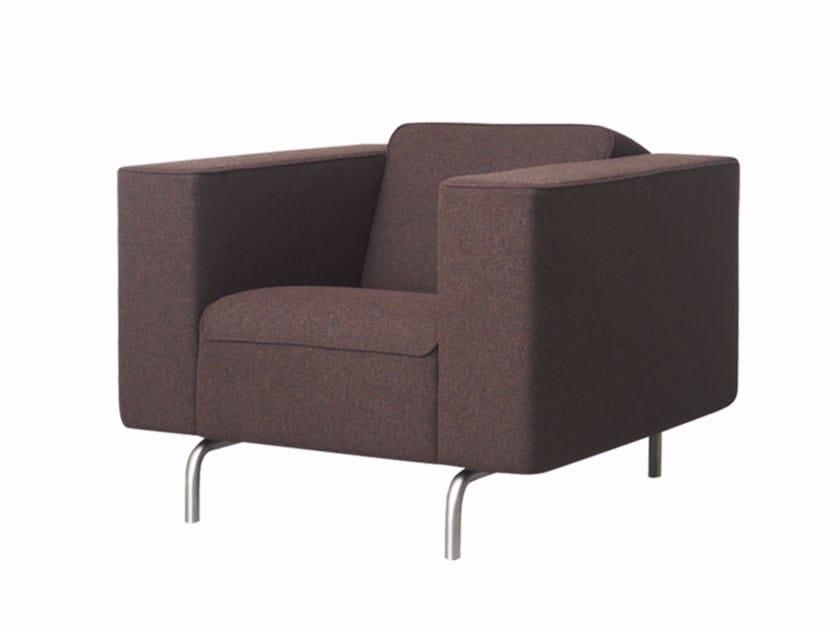 Fabric armchair with armrests MATRICE | Armchair - Palau