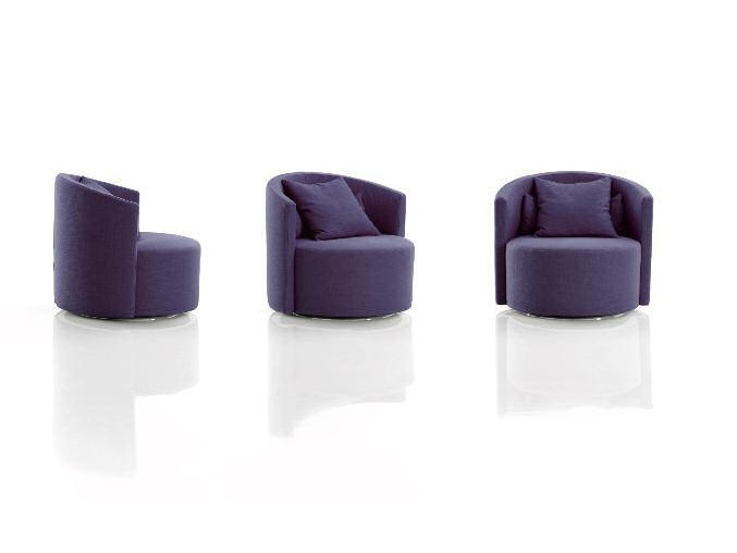 Upholstered fabric armchair with armrests COSY   Armchair by Papadatos