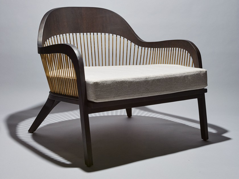 Armchair with armrests LANKA | Armchair by Reda Amalou