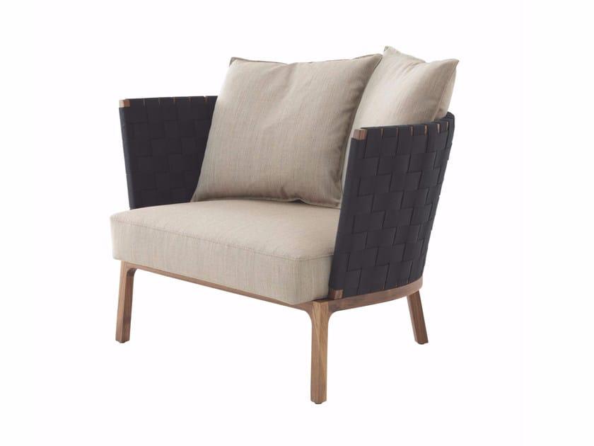 Fabric armchair with armrests MON REPOS | Armchair - ROSET ITALIA