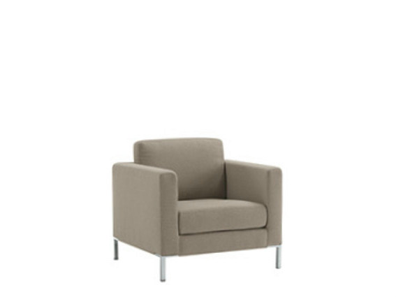 Guest chair with armrests BRERA | Armchair by Sesta