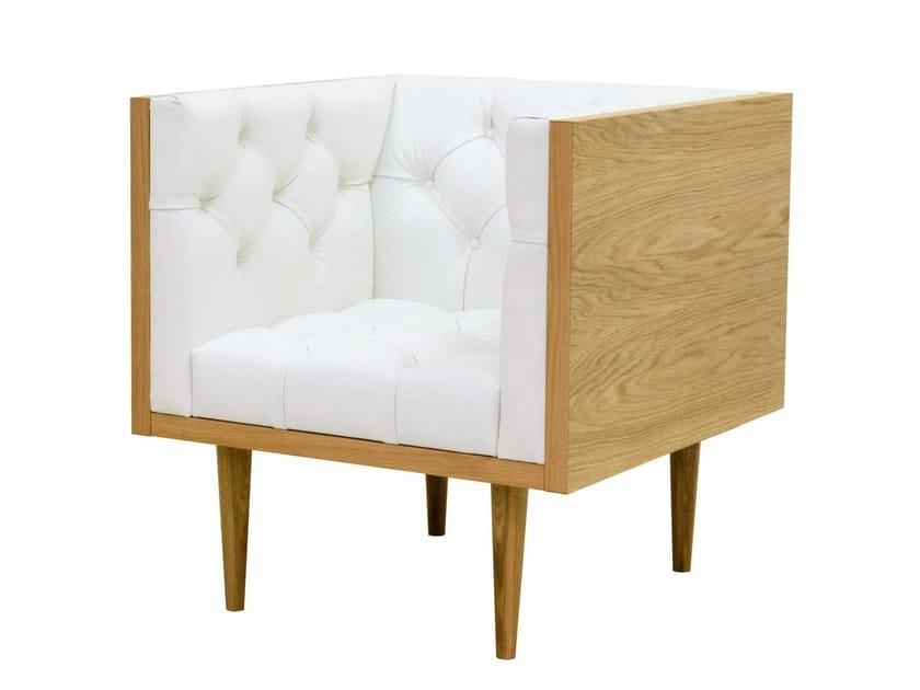 Tufted leather guest chair WOODY | Armchair by TARMEKO Pehmemööbel