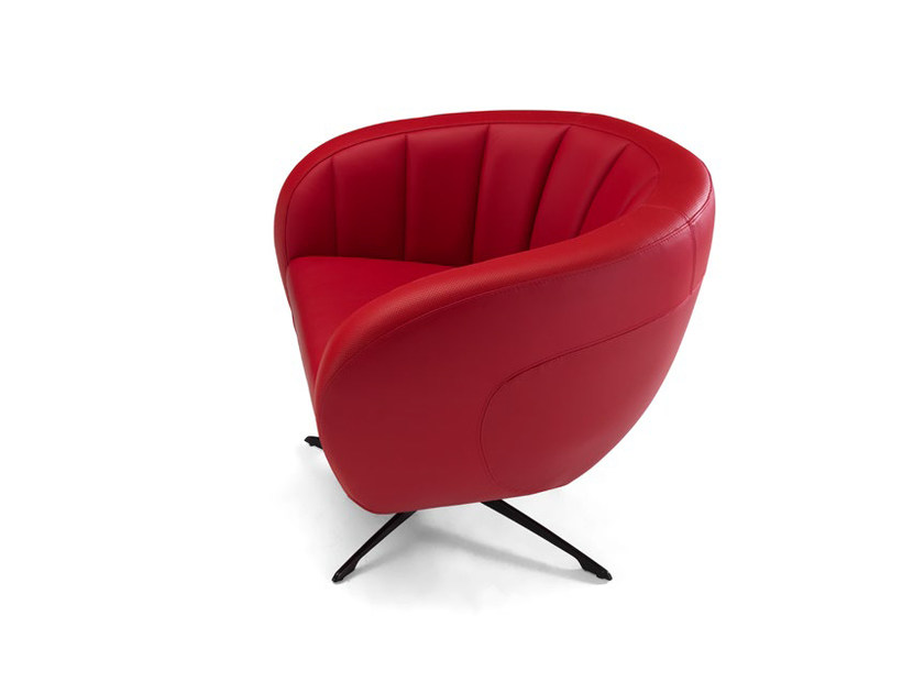 Upholstered leather armchair with 4-spoke base SEPANG | Armchair - Tonino Lamborghini Casa by Formitalia Group