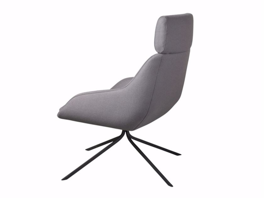 Fabric armchair with headrest BLUE EXTENDED by Palau