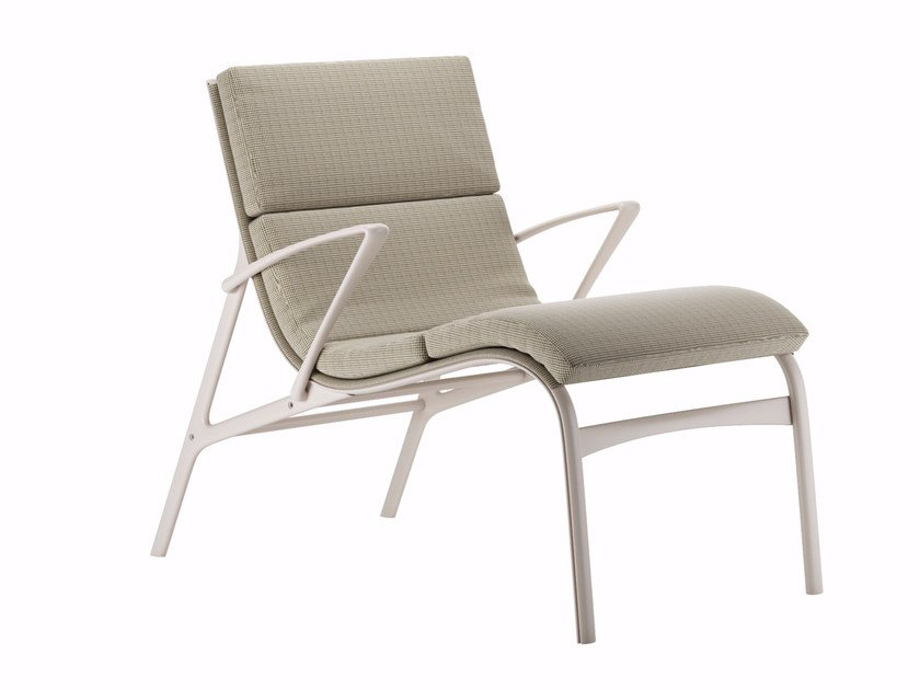 Fabric armchair with armrests ARMFRAME SOFT - 463 - Alias