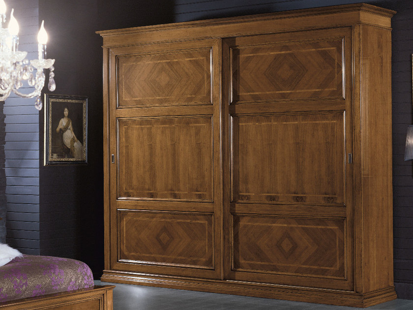 Wooden wardrobe with sliding doors ARMONIE | Wardrobe with sliding doors - Arvestyle