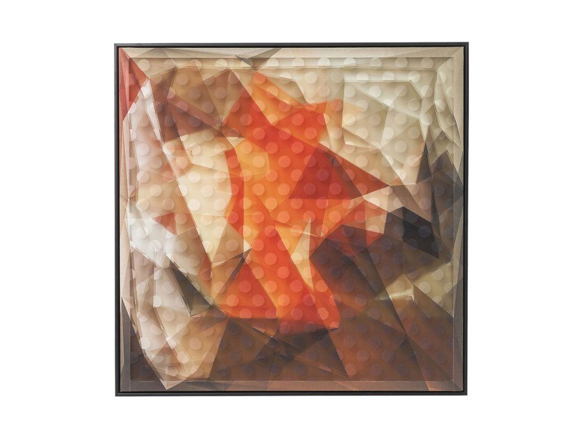 Poster ART 3D ABSTRACT ORANGE - KARE-DESIGN