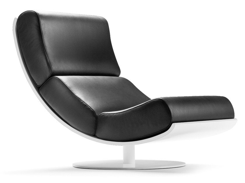 Upholstered leather armchair ART | Leather armchair by SANCAL