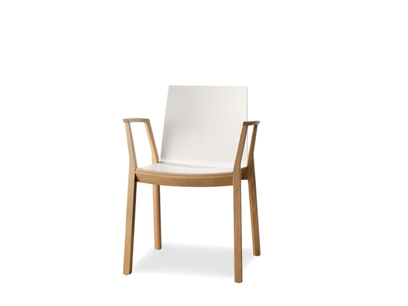 Stackable laminate chair with armrests ARTA | Chair with armrests - Wiesner-Hager