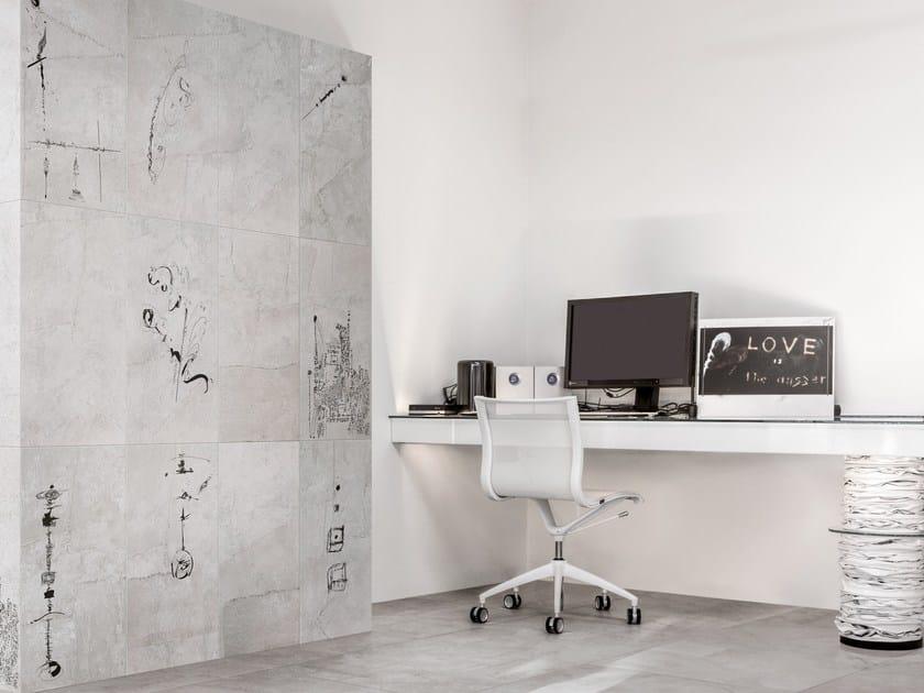 Porcelain stoneware wall/floor tiles with textile effect ARTE PURA GRAFISMI by Ceramiche Refin