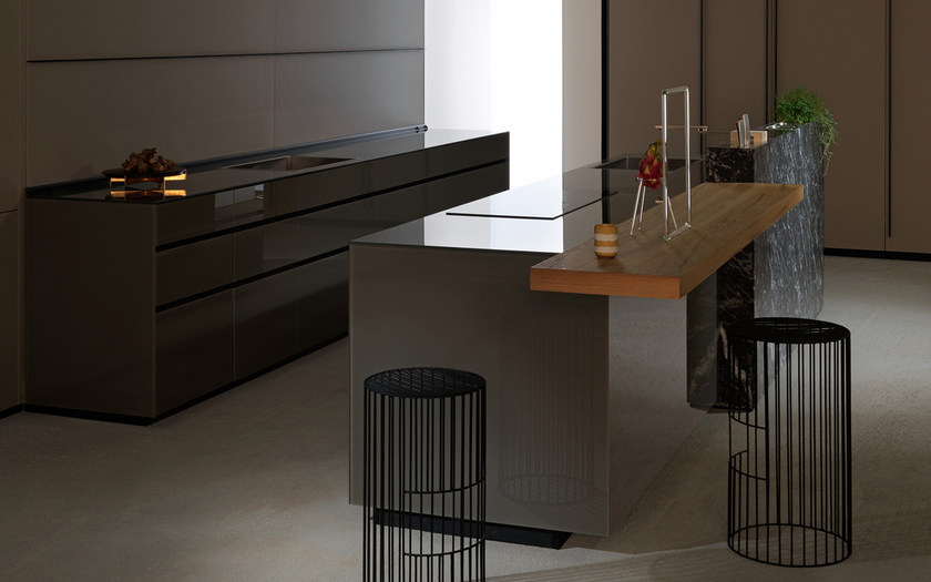 Cucina componibile in vetro ARTEMATICA VITRUM - LUCIDO TERRA ...
