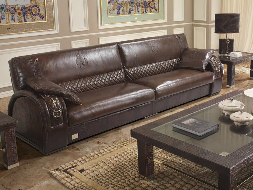 Upholstered 4 seater leather sofa ASCOT ONE 911 | Sofa - Formitalia Group
