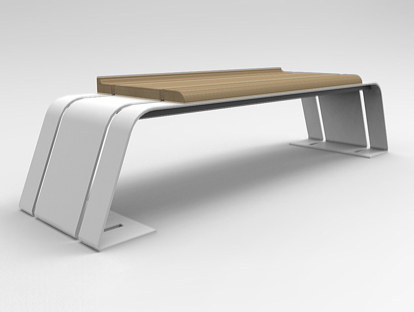 Steel and wood Bench ASH | Bench by CITYSì