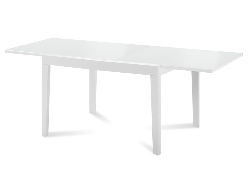Rectangular wood and glass table ASSO-120 by DOMITALIA