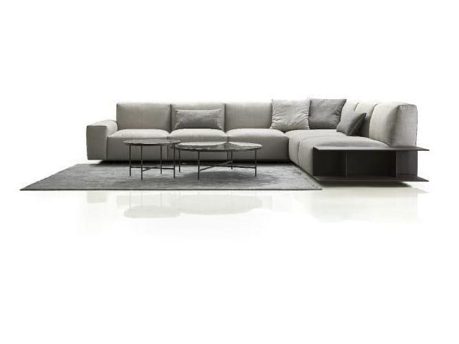 Corner modular fabric sofa with removable cover ASTON   Corner sofa by Papadatos