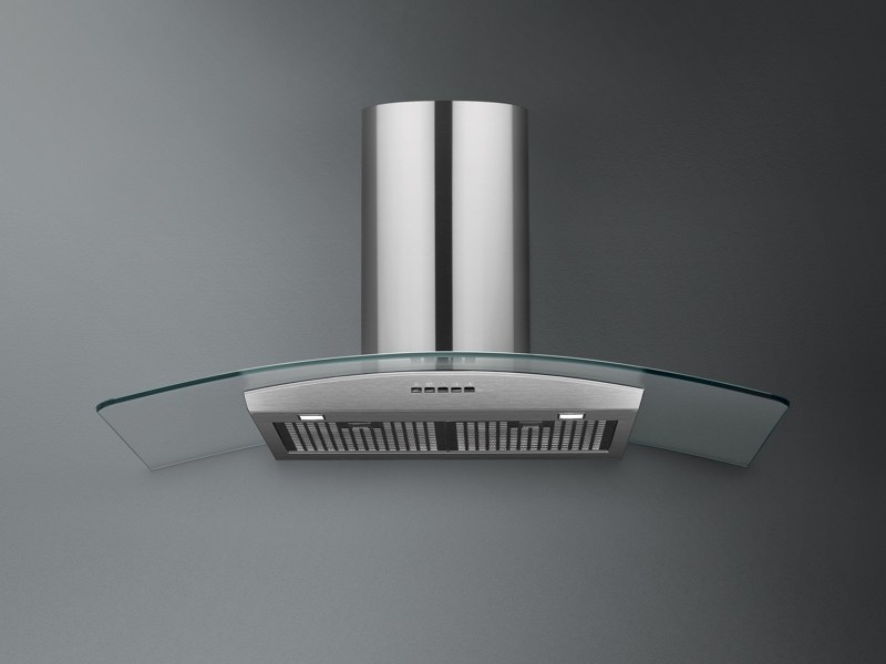 Wall-mounted Glass and Stainless Steel cooker hood ASTRA VETRO - Falmec