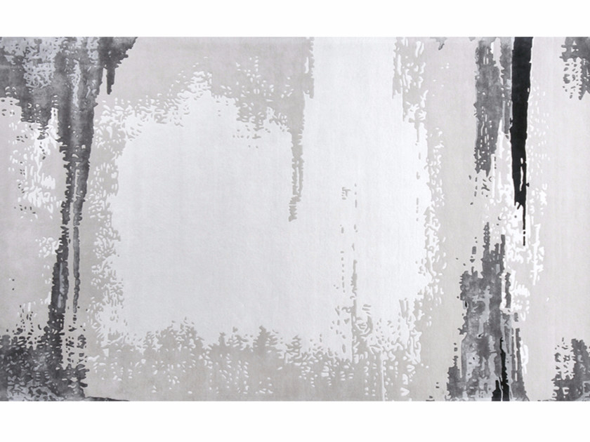 Patterned handmade rectangular rug ATACAMA MARENGO - EDITION BOUGAINVILLE