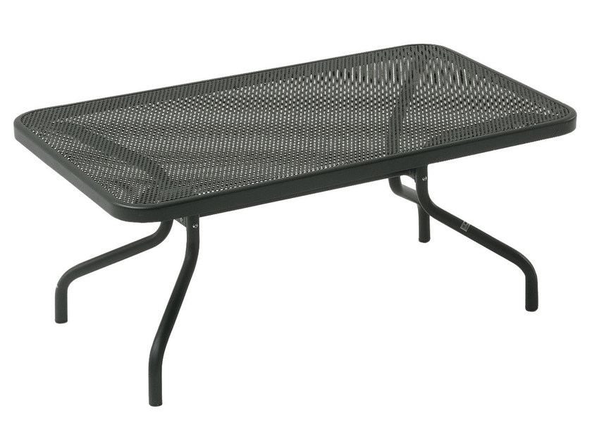 Rectangular steel garden side table ATHENA | Rectangular coffee table - EMU Group S.p.A.