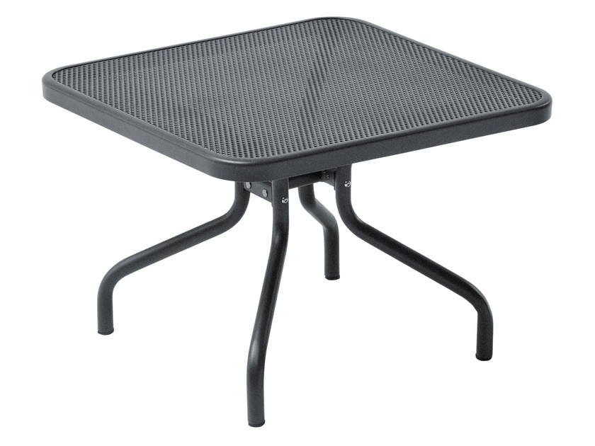 Square steel garden side table ATHENA | Square coffee table - EMU Group S.p.A.