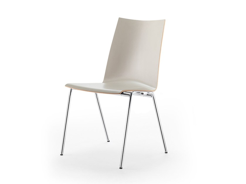 Stackable wood veneer chair ATLANTA 450 | Chair by rosconi
