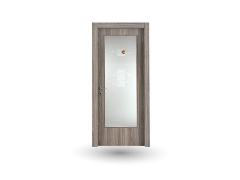 Hinged wood and glass door ATLANTE A41V1 AMBRA - GD DORIGO