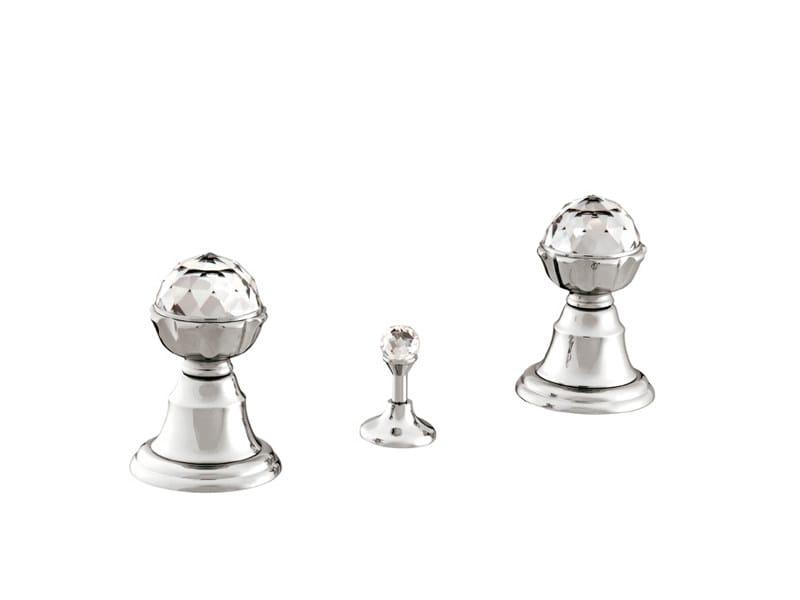 3 hole bidet tap with Swarovski® crystals ATLANTICA | 3 hole bidet tap - Bronces Mestre