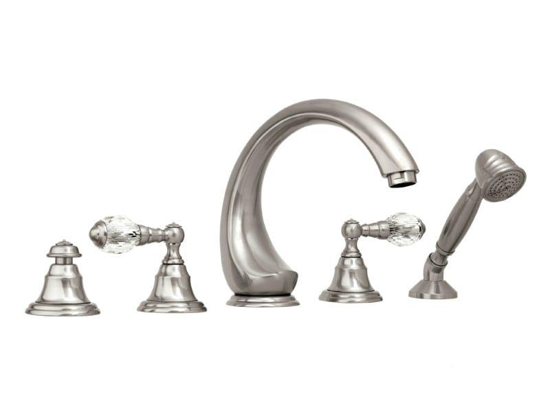 5 hole bathtub set with Swarovski® crystals ATLANTICA | Bathtub set with Swarovski® crystals - Bronces Mestre