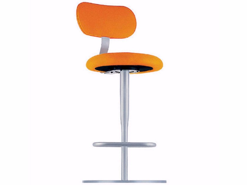 Swivel counter stool with footrest ATLAS STOOL - 758 - Alias