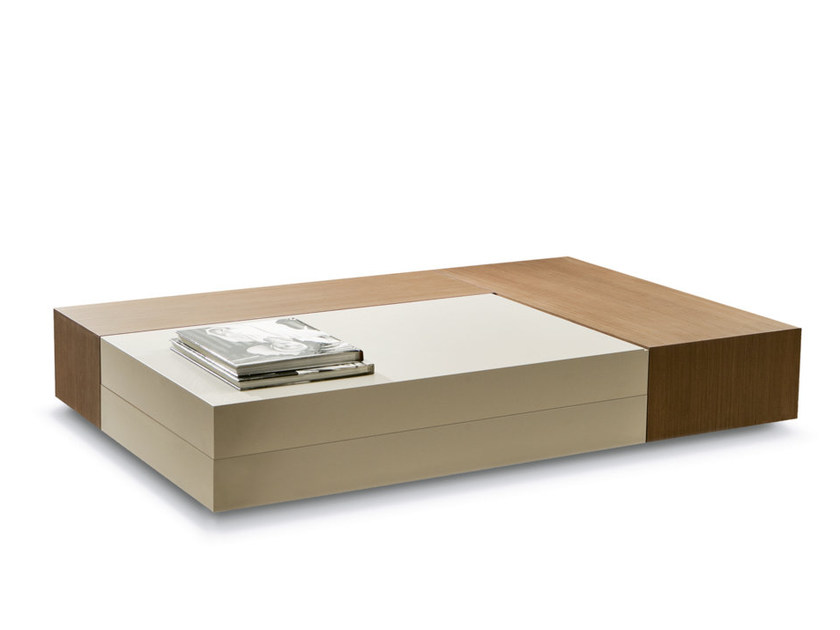 Low coffee table with storage space ATOLLO | Rectangular coffee table by Pacini & Cappellini