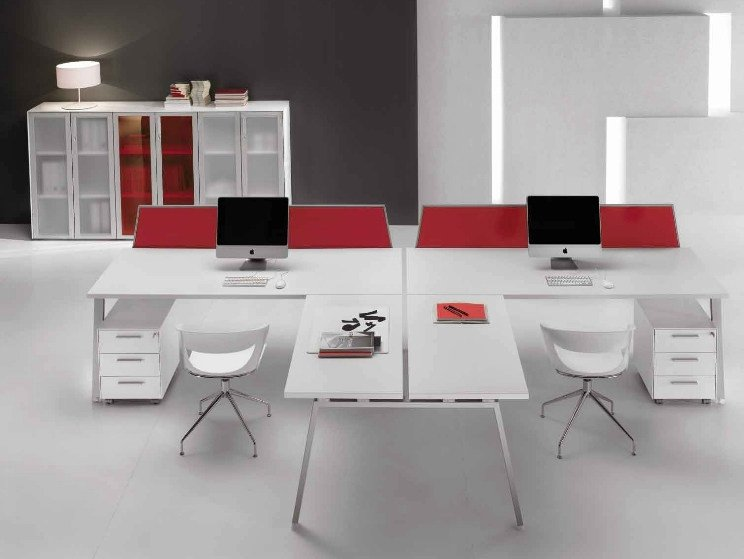 Multiple wooden office workstation ATREO | Multiple office workstation - Castellani.it