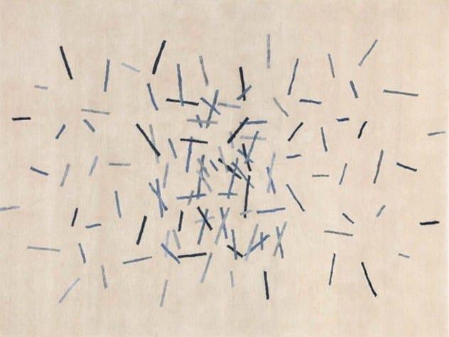 Patterned handmade rug ATTITUDE - Deirdre Dyson
