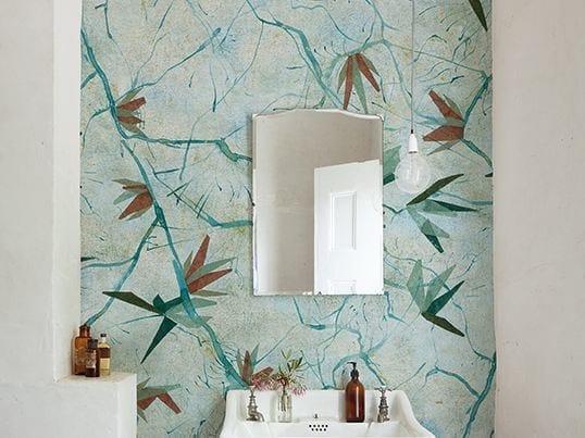 Motif bathroom wallpaper AUGUSTA by Wall&decò