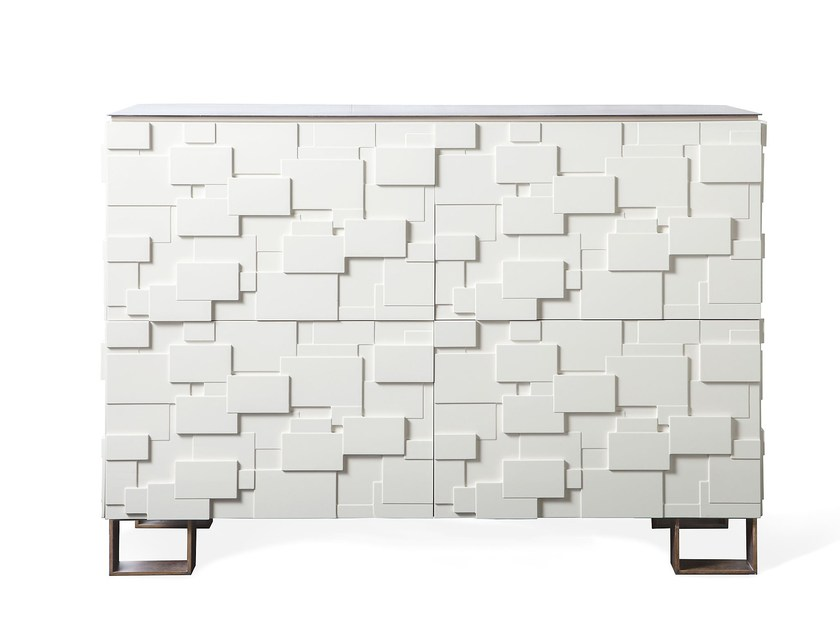 Lacquered highboard AUREA BOX by Paolo Castelli