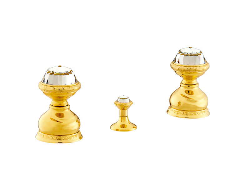 3 hole bidet tap with Swarovski® crystals AUSTRAL | 3 hole bidet tap - Bronces Mestre
