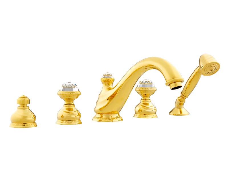 5 hole bathtub set with Swarovski® crystals AUSTRAL   Bathtub set with Swarovski® crystals - Bronces Mestre