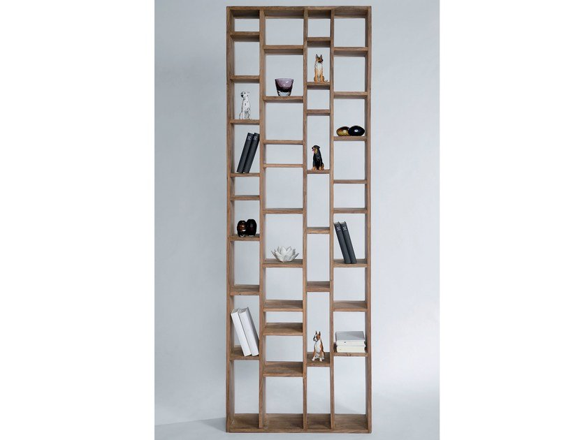 Open wooden bookcase AUTHENTICO COLLECTORS 210 - KARE-DESIGN
